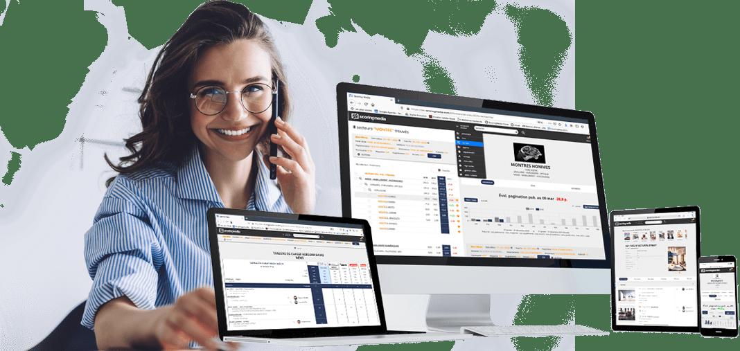 Notre module CRM relie vos contacts et vos notes à nos datas.