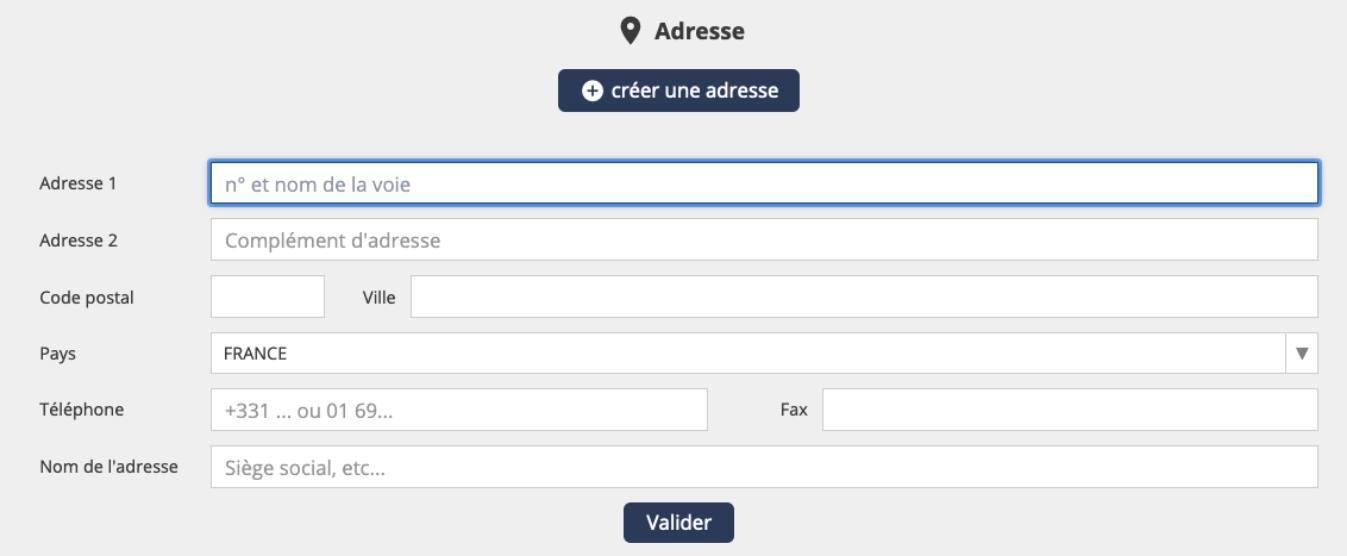 Créez vos Annonceurs et leurs adresses multiples